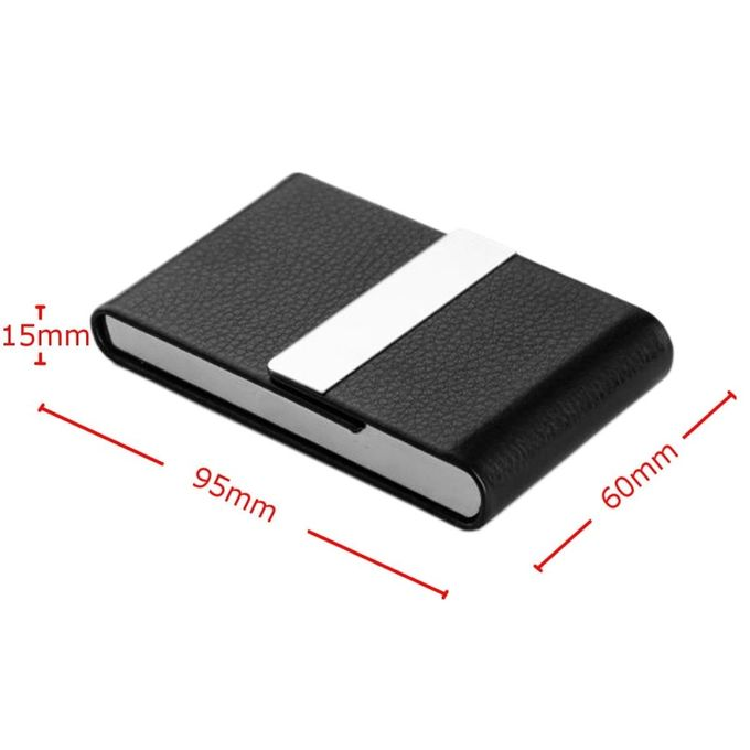 Sale on universal hot pocket black pu leather name business card hot pocket black pu leather name business card case holder waterproof reheart Images