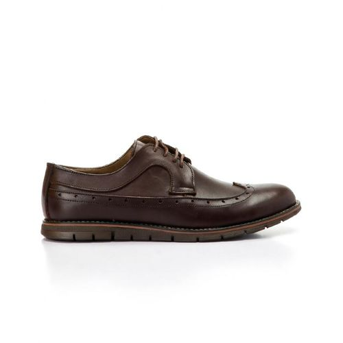 Classic Leather Lace Up Shoes -Brown