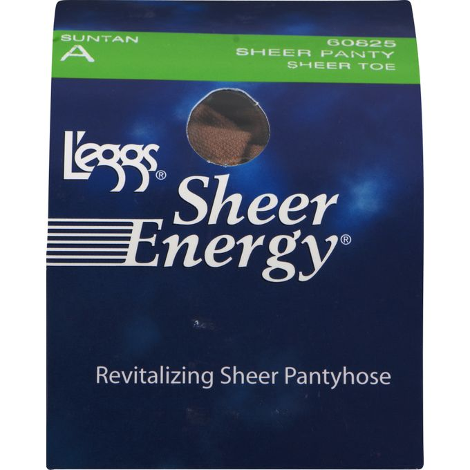 Leggs Sheer Energy Pantyhose Sheer Panty Sheer Toe A Suntan, 1.0 CT