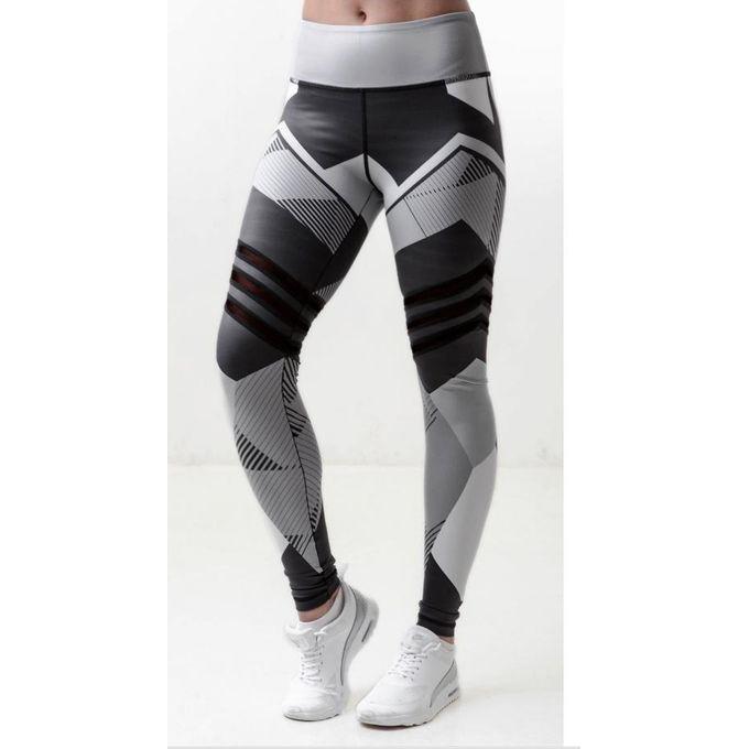 3cd6221272b80 Popular Yoga Pants Fitness Leggings Sports Elastic Breathable Female Tights  Running Sexy Slim Crackle Printed KUA