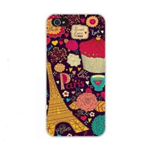 Universal Fashion Styles Phone Shell For Apple IPhone 5 5S Cases Color  Drawing Emboss Case For IPhone 5 Case Back Cover Thin Cover(Purple Tower) 8ed3b76bd
