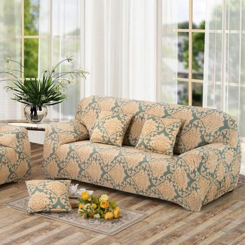 Sale On 2 Seater Flower Fit Stretch Sofa Slipcover Couch Damask
