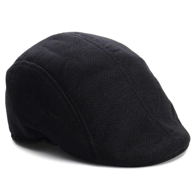 adb53f58a0e Mens Womens Duckbill Ivy Golf Cap Driving Flat Cabbie Newsboy Gatsby Beret  Hat Black