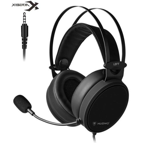 Generic Nubwo N7 3.5mm Games Earphone PC Headset Bass Stereo Gaming Headphones For PS4/New Xbox One Mobile Phone TV With Mic (Black) LBQ