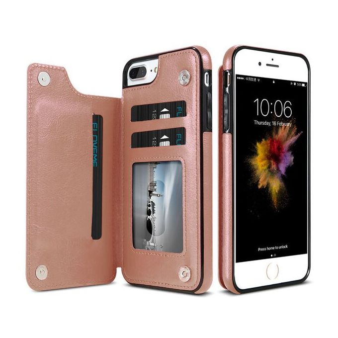 reputable site d3003 e060d Wallet Cases For IPhone 6S 6 7 8 Plus XS Max Shell Retro Flip Leather Phone  Case For IPhone 5S 5 SE X 10 XR Cover Capa(Rose Glod)