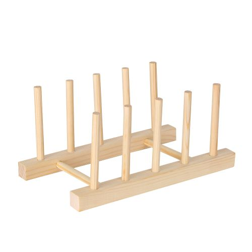 Multi Purpose Wooden Dish Rack Dishes Drying Drainer Storage Stand Holder Kitchen Cabinet Organizer For Dishplatebowlcuppot Lidbook