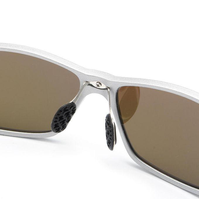 2e3407053fe ... UV400 TAC HD Men Polarized Driving Sunglasses Sports Mirrored Glasses  Eyewear(Silver Frame Orange Red ...