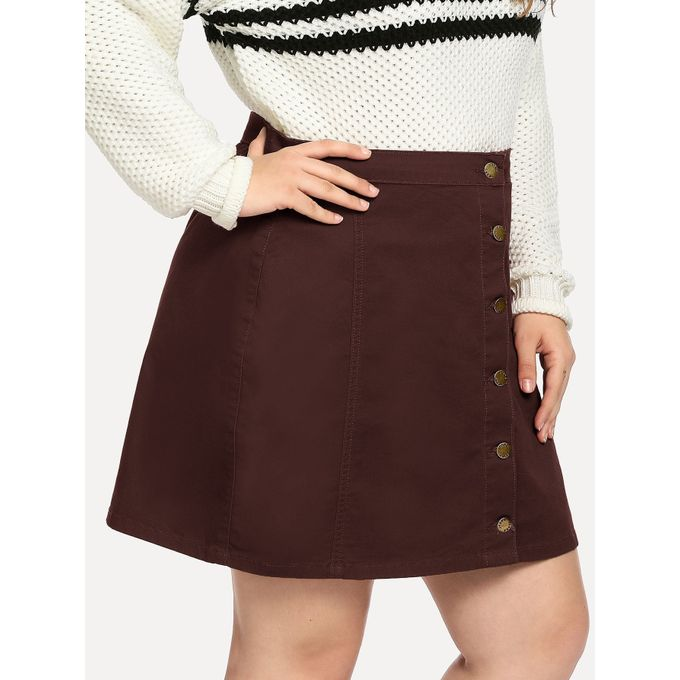 fc64afca35dd8 Sale on Plus Button Up Denim Skirt | Jumia Egypt