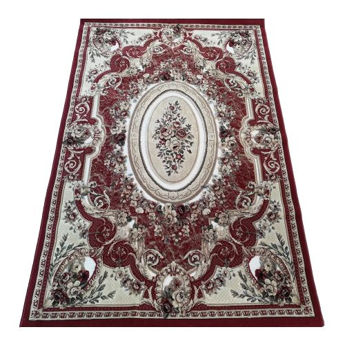 Panorama O.W. Machine Woven Rug- Red With Multicolour