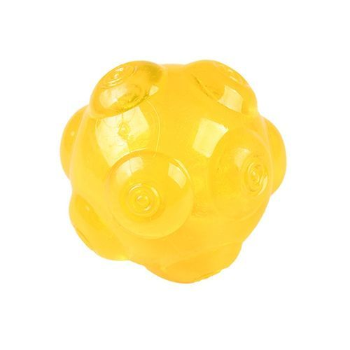 Pet TPR Durable Bite Grinding Sound Toy Ball-Yellow