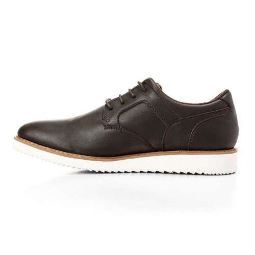 Formal To Casual Leather Men Shoes - Brunt Brown