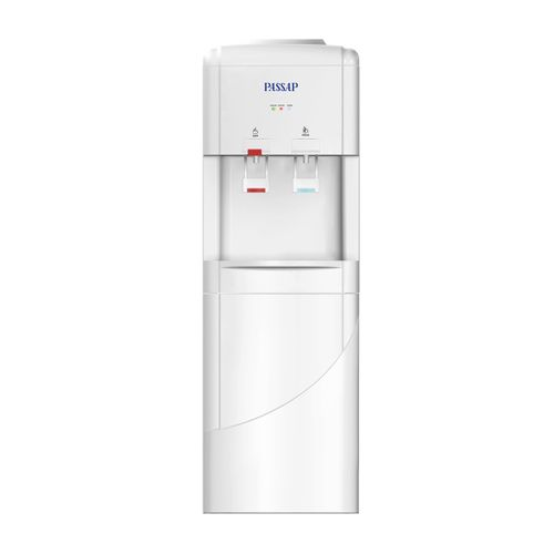 WD801 - مبرد مياه 2 حنفية مزود بكابينة تخزين – ابيض