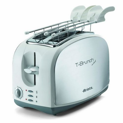 0103 T-Brunch Metal Toaster With Two Slices - 600 Watt - Silver