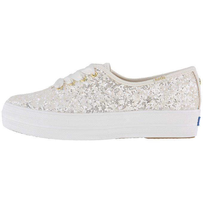 4bc8f3f16ff52 Sale on Keds X Kate Spade New York Bridal Triple Glitter