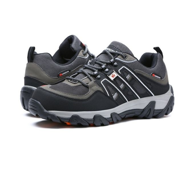 84248c48fd6 Men Safety Shoes Breathable Hiking Boots Steel Toe Work Boots - Black