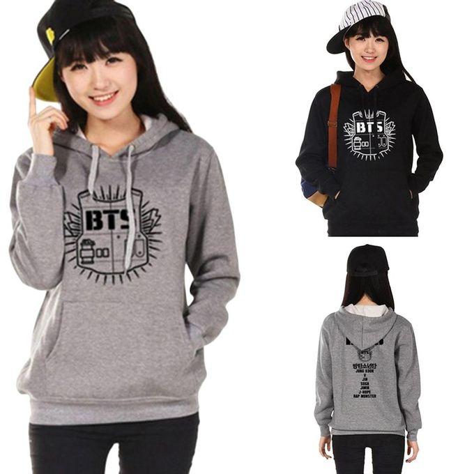 b238eefadabf2 Hequeen Women Hoodie Sweatshirt Clothing Hoody Sweatshirts BTS Sweatshirts  Women Long Sleeve Hoodies Grey