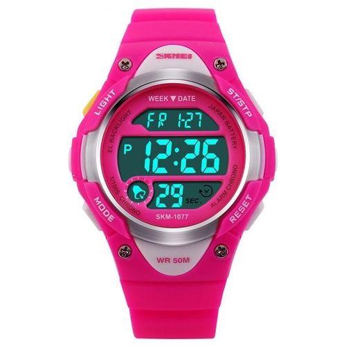 d38735169 1077 الرياضة في الهواء الطلق أطفال صبي بنات ليد الرقمية إنذار ووتش للماء  ساعة اليد الأطفال