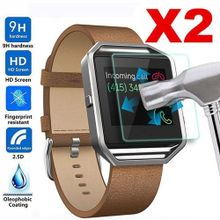 a6b5999c0818e 2Pc 9H Premium Real Tempered Glass Screen Protector For Fitbit Blaze Smart  Watch