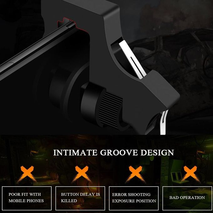 PUBG Mobile Game Controllers, Phone Game Triggers Shooter Joysticks Aim  Buttons Handgrip Gamepad Sensitive For 4 5-6 5 Inch Android IOS Phones For