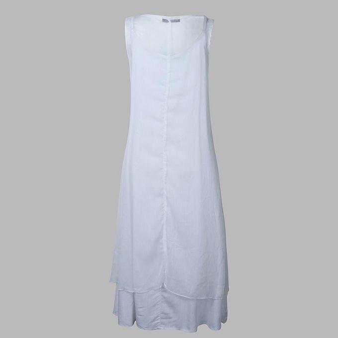 8c0a400fb288 ... ZANZEA Fashion Summer Dress Women Long Maxi Dresses Casual Loose Rayon  Silk Dress Sleeveless Vestidos Plus ...