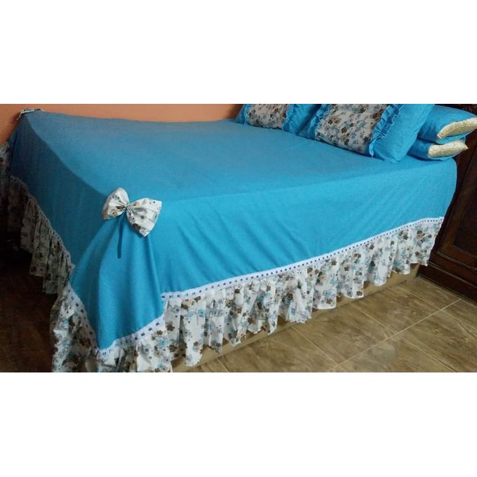 Bed Sheet Set – 5 Pcs – Turquoise –  مصر