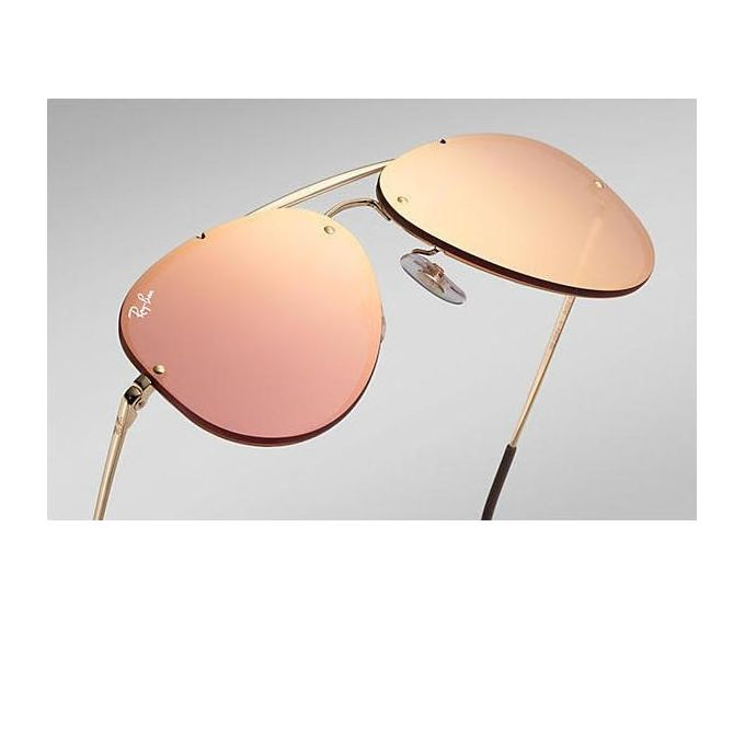 20425fb823be8 Sale on Ray Ban Blaze Aviator RB3584N 9052E4 Gold Frame Rose Mirror ...