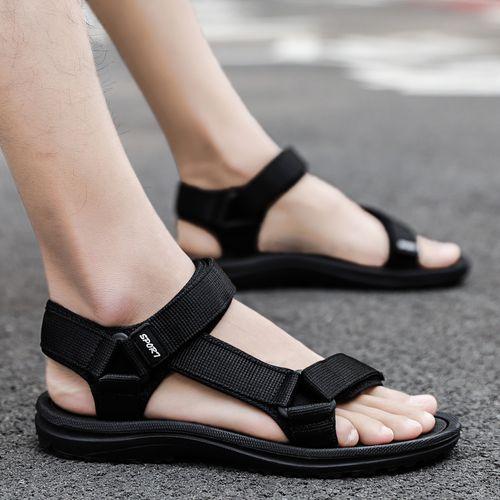 55144c46a 2019 أحذية رجالية قابلة للتعديل في الهواء الطلق مريحة الصنادل المفتوحة تو  الأسود - Jumia مصر