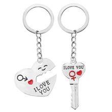 b53264ead4d Xiuxingzi Romantic Couple Keychain Keyring Keyfob Valentine  039 s Day  Lover Gift Heart Key