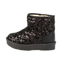 cee71a0fc4ffa Infant Toddler Baby Girls Sequins Boots Boys Kids Winter Thick Snow Boots  Shoes- Black