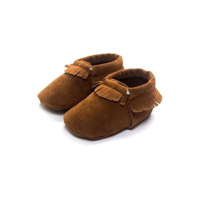 bc794b21cde3e Fashion Cute Baby Suede Leather Tassel Shoes Girls Boys Toddler Infant  Moccasins 0-18M DARK BROWN