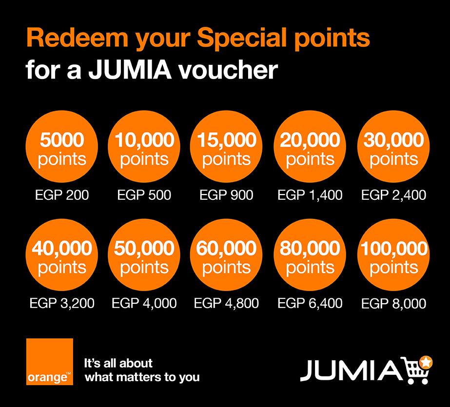 Redeem Your Special Orange Points - Get Your Jumia Voucher
