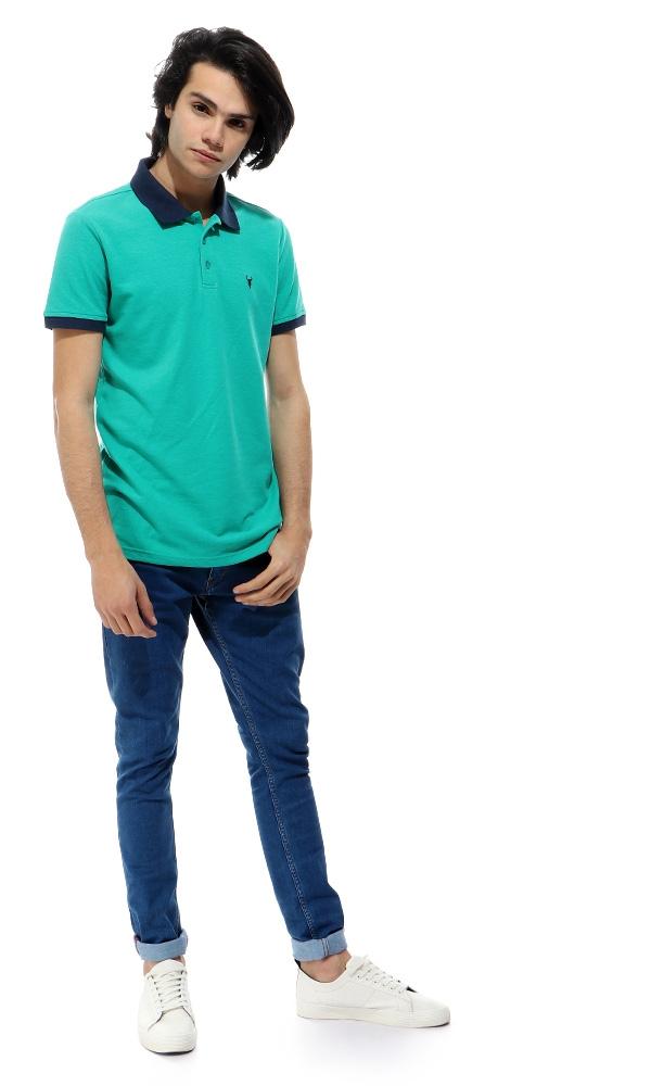 866650fe8c83e Sale on Turn Down Collar Teal Green Polo Shirt   Jumia Egypt