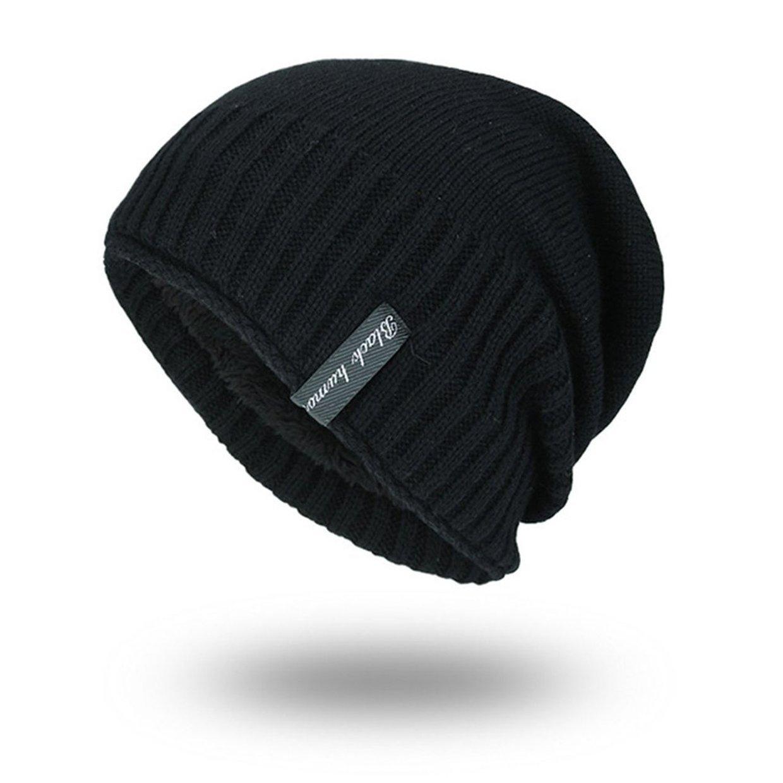 81a3622d4d5 Allwin Korean Style Men Women Winter Beanie Solid Color Hat Unisex Plain  Knitting Cap-black