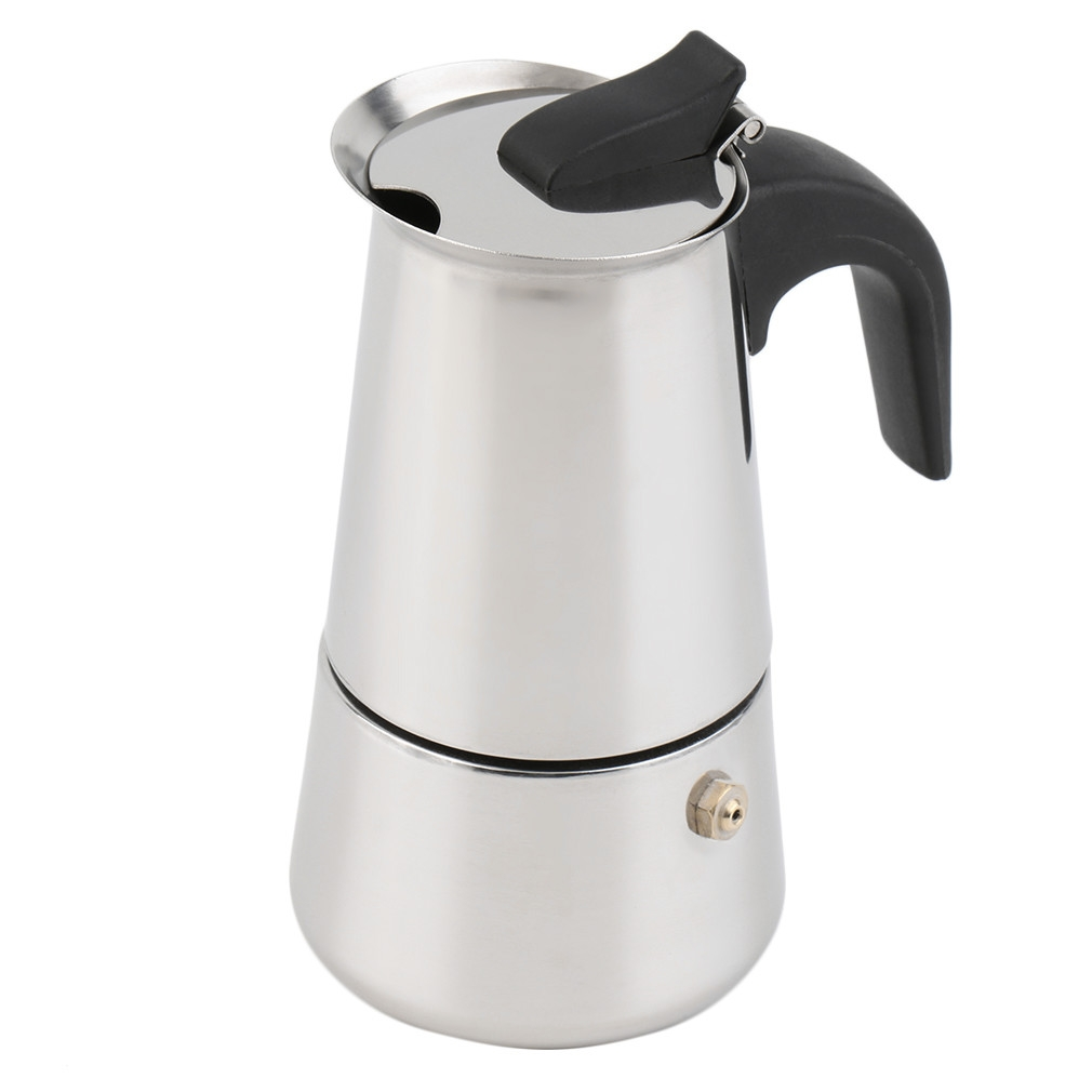 Stainless Steel Coffee Espresso Stove Pot Maker Moka Stove Top Cup 2//4//6 Latte