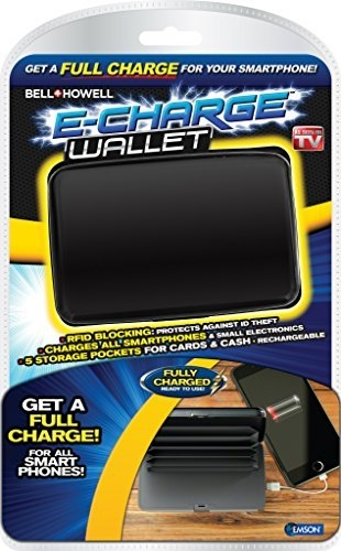 Echarge Wallet Deluxe Portable Power Bank And Credit Card Case As Seen On Tv (Black)