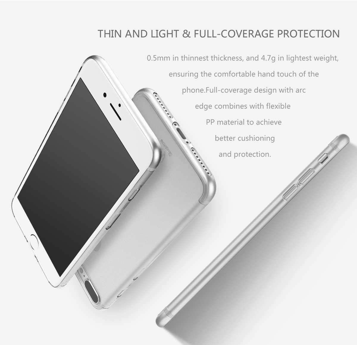 Baseus Ultathin Slim Transparent PP Case For iPhone 7/iPhone 8