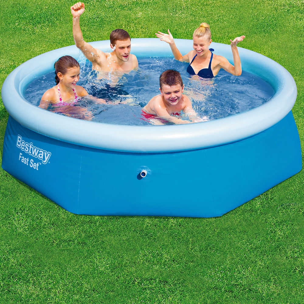 Sale on bestway swimming pool with free pump 244 66 cm for Bestway swimming pools