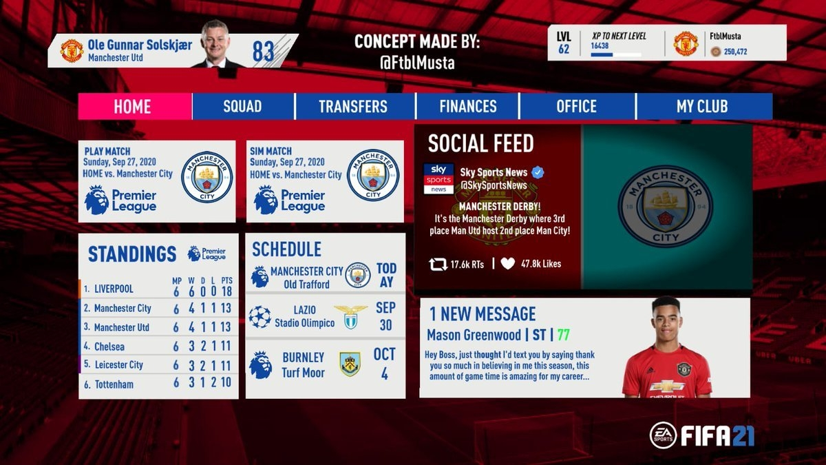 FIFA 21 Career Mode New Features - FIFA Index