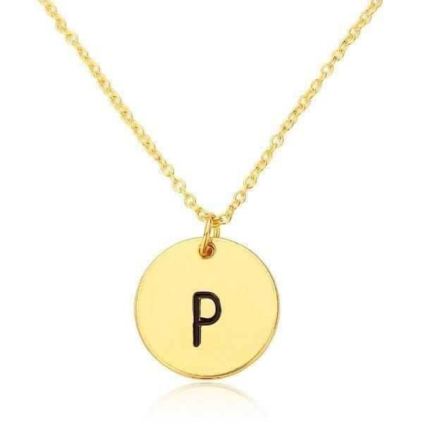 Letter Pendant Necklace