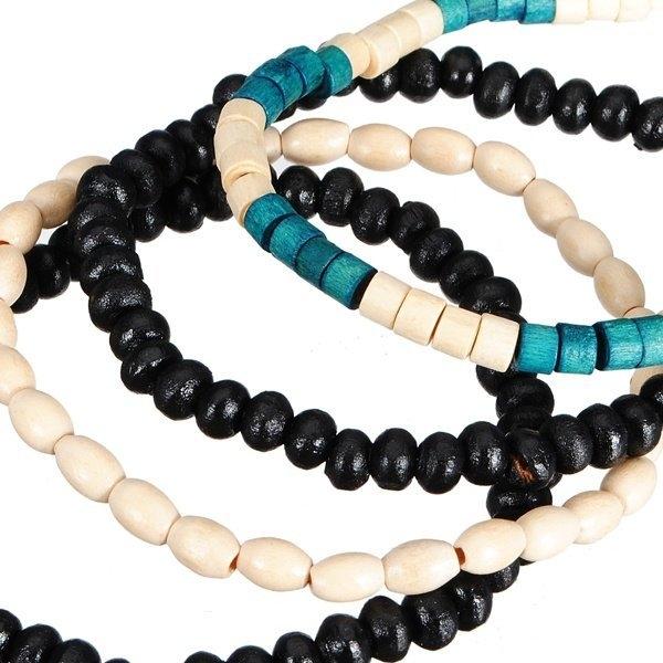 wooden beads bracelet