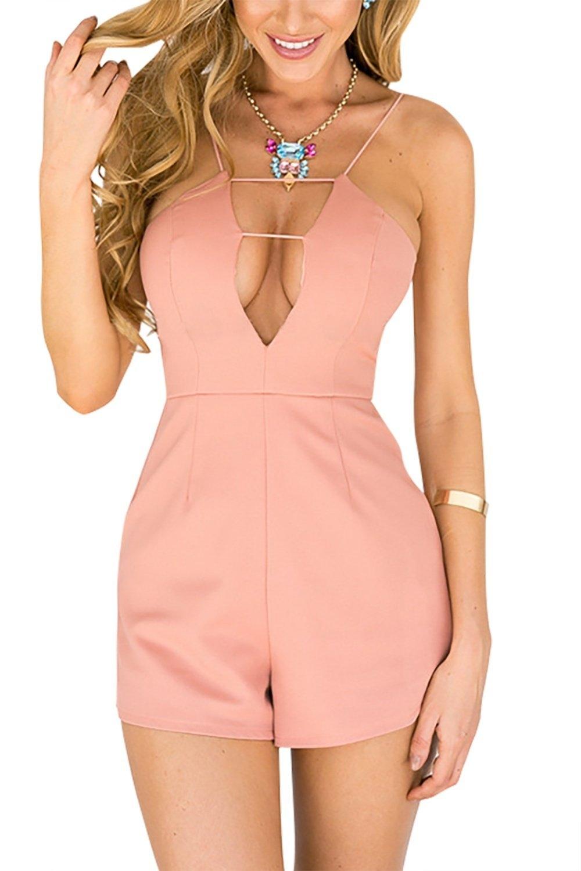 537beea60f Fashion YOINS Sleeveless V-neck Playsuit With Zip Back Fastening ...