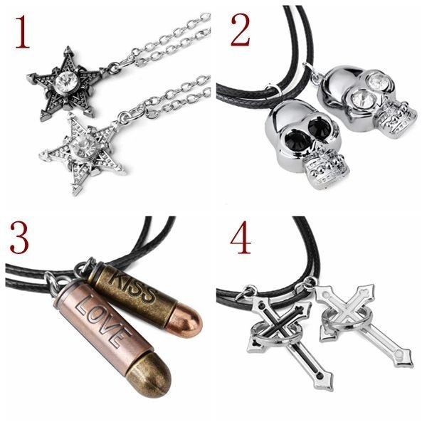 Cross Clasp Rope Lover Necklaces