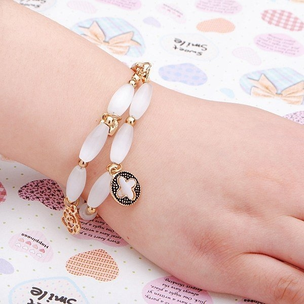 Rose Flowers Multilayer Rope Bracelet