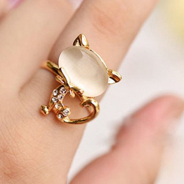 Opal Cat Rings