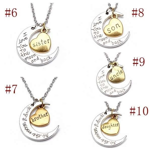 Family Member Engraved Letter Necklace