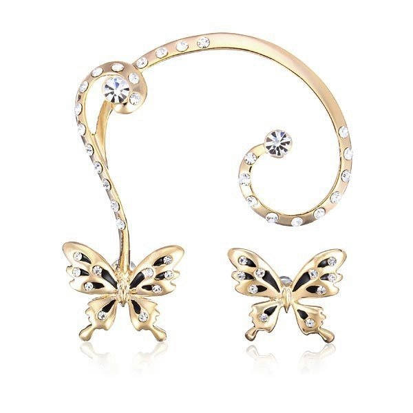 Gold Plated Butterfly Earrings