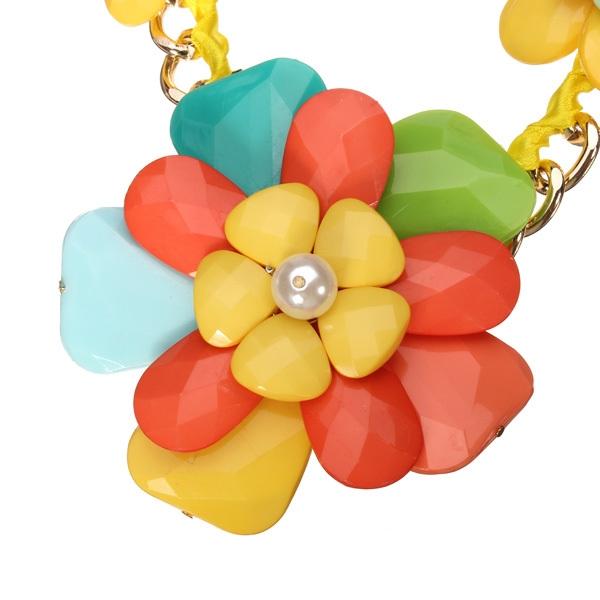 Resin Flower Statement Necklace