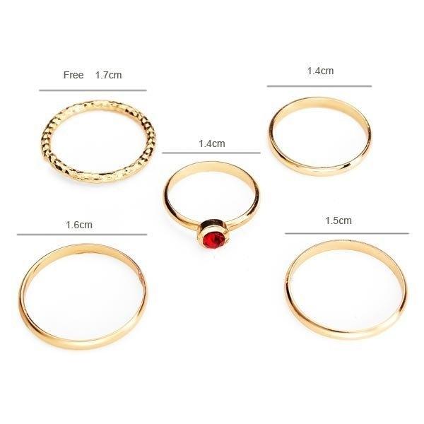 Gold Stacking Ring Set