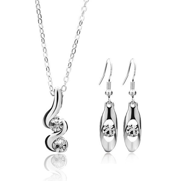 Spiral Crystal Jewelry Set