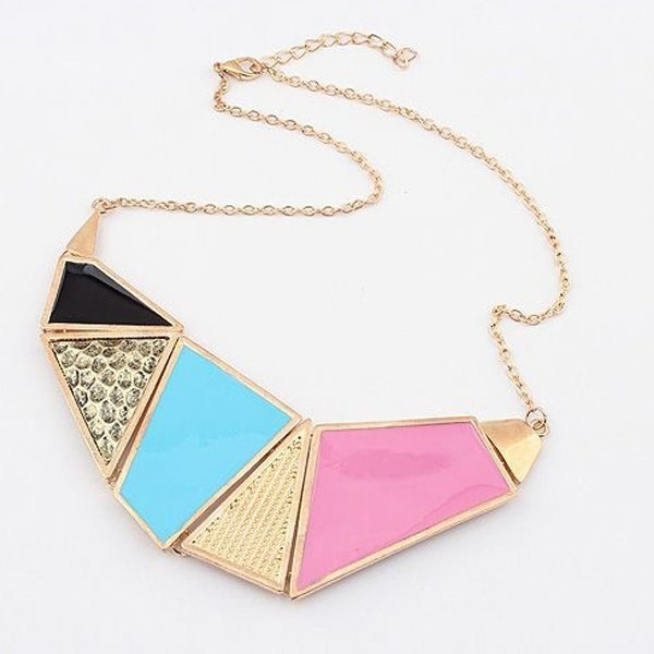 alloy geometry necklace